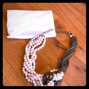 J. Crew pearls and copper necklace